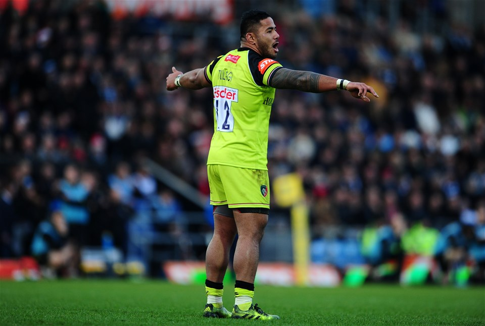EXETER, UNITED KINGDOM - DECEMBER 24: Manu Tuilagi of Leicester Tigers during the Aviva Premiership match between Exeter Chiefs and Leicester Tigers at Sandy Park on December 24 2016 in Exeter, England. (Photo by Harry Trump/Getty Images)
