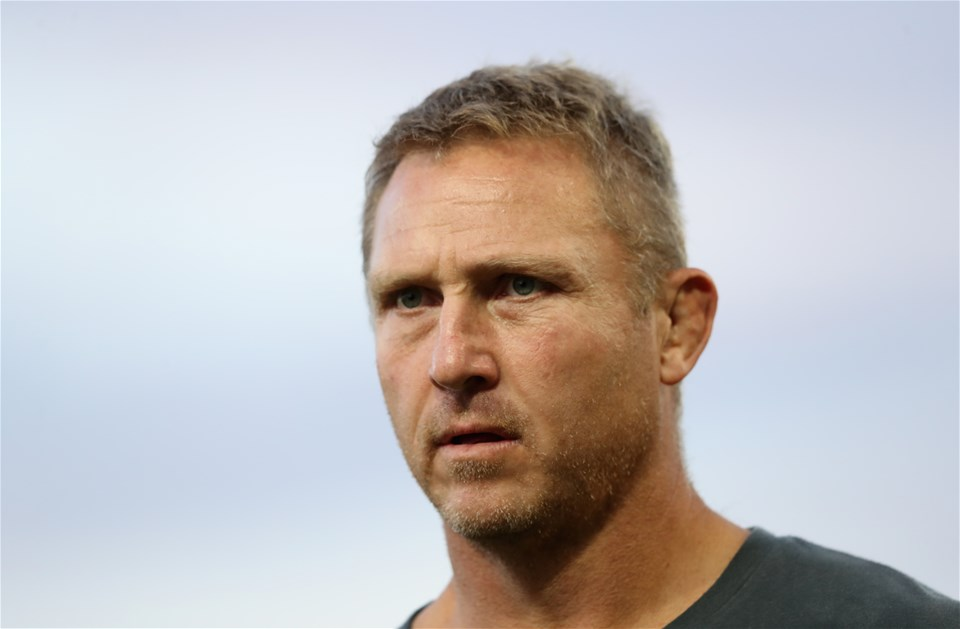 GLOUCESTER, ENGLAND - SEPTEMBER 01:  Johan Ackermann, the Gloucester assistant coach looks on  during the Aviva Premiership match between Gloucester Rugby and Exeter Chiefs at Kingsholm Stadium on September 1, 2017 in Gloucester, England.  (Photo by David Rogers/Getty Images)