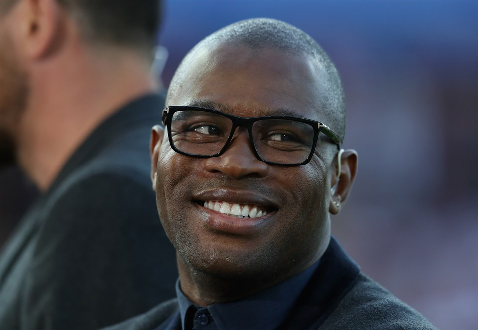 GLOUCESTER, ENGLAND - SEPTEMBER 01:  Former England international, now BT Sport rugby pundit Ugo Monye looks on during the Aviva Premiership match between Gloucester Rugby and Exeter Chiefs at Kingsholm Stadium on September 1, 2017 in Gloucester, England.  (Photo by David Rogers/Getty Images)