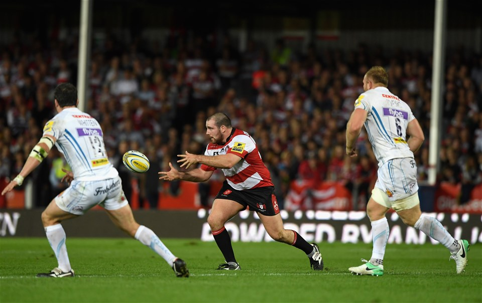 GLOUCESTER, ENGLAND - SEPTEMBER 01:  Gloucester player Fraser Balmain in action during the Aviva Premiership match between Gloucester Rugby and Exeter Chiefs at Kingsholm Stadium on September 1, 2017 in Gloucester, England.  (Photo by Stu Forster/Getty Images)