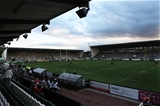 NEWCASTLE UPON TYNE, ENGLAND - SEPTEMBER 01: A general view of the stadium prior to the Aviva Premiership match between Newcastle Falcons and Worcester Warriors at Kingston Park on September 1, 2017 in Newcastle upon Tyne, England. (Photo by Ian MacNicol/Getty Images)