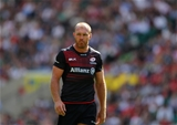 LONDON, ENGLAND - SEPTEMBER 02:  Schalk Burger of Saracens in action during the Aviva Premiership match between Saracens and Northampton Saints at Twickenham Stadium on September 2, 2017 in London, England.  (Photo by Warren Little/Getty Images)