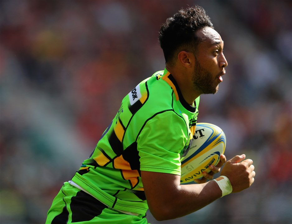 LONDON, ENGLAND - SEPTEMBER 02:   Nafi Tuitavake of Northampton runs the ball during the Aviva Premiership match between Saracens and Northampton Saints at Twickenham Stadium on September 2, 2017 in London, England.  (Photo by Warren Little/Getty Images)
