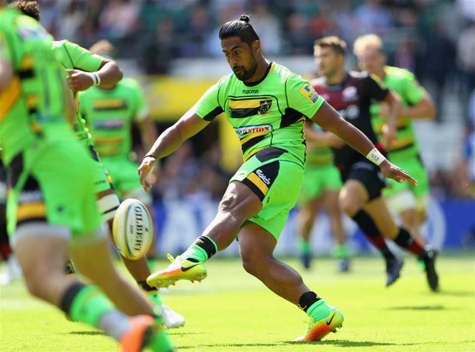 LONDON, ENGLAND - SEPTEMBER 02:  Ahsee Tuala of Northampton Saints in action during the Aviva Premiership match between Saracens and Northampton Saints at Twickenham Stadium on September 2, 2017 in London, England.  (Photo by Warren Little/Getty Images)