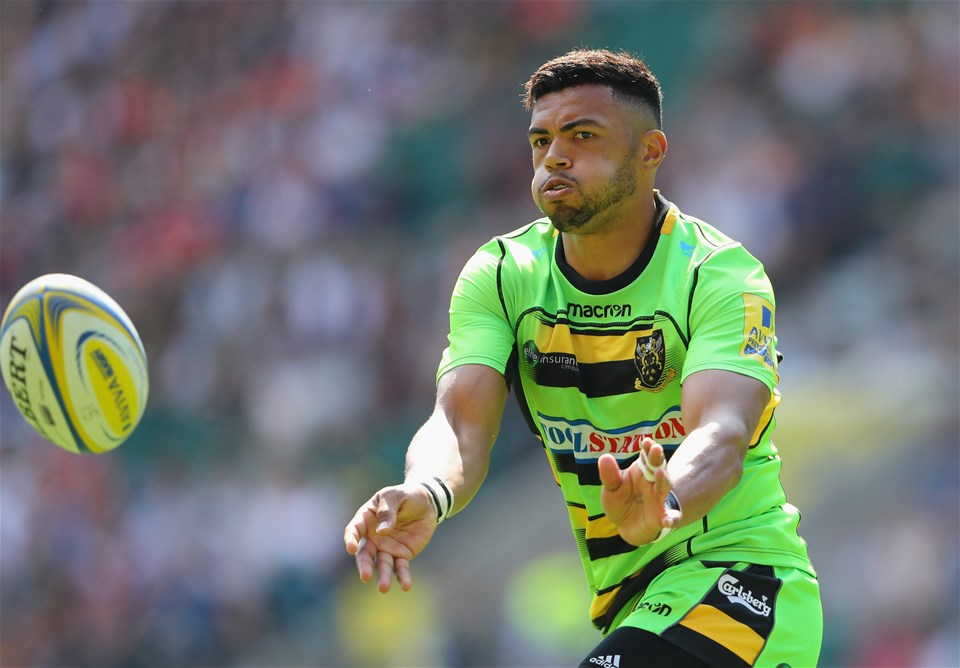 LONDON, ENGLAND - SEPTEMBER 02:  Luther Burrell of Northampton Saints in action during the Aviva Premiership match between Saracens and Northampton Saints at Twickenham Stadium on September 2, 2017 in London, England.  (Photo by Warren Little/Getty Images)
