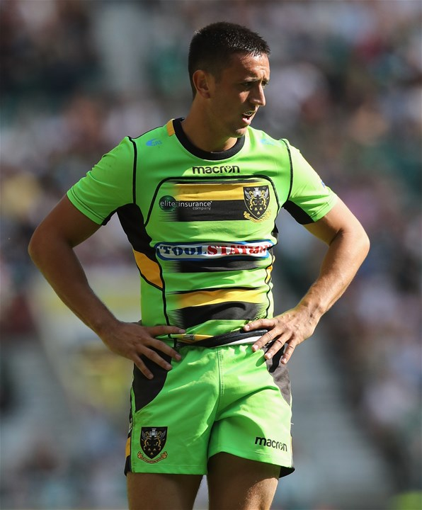 LONDON, ENGLAND - SEPTEMBER 02:  Alex Mitchell of Northampton looks on during the Aviva Premiership match between Saracens and Northampton Saints at Twickenham Stadium on September 2, 2017 in London, England.  (Photo by David Rogers/Getty Images)