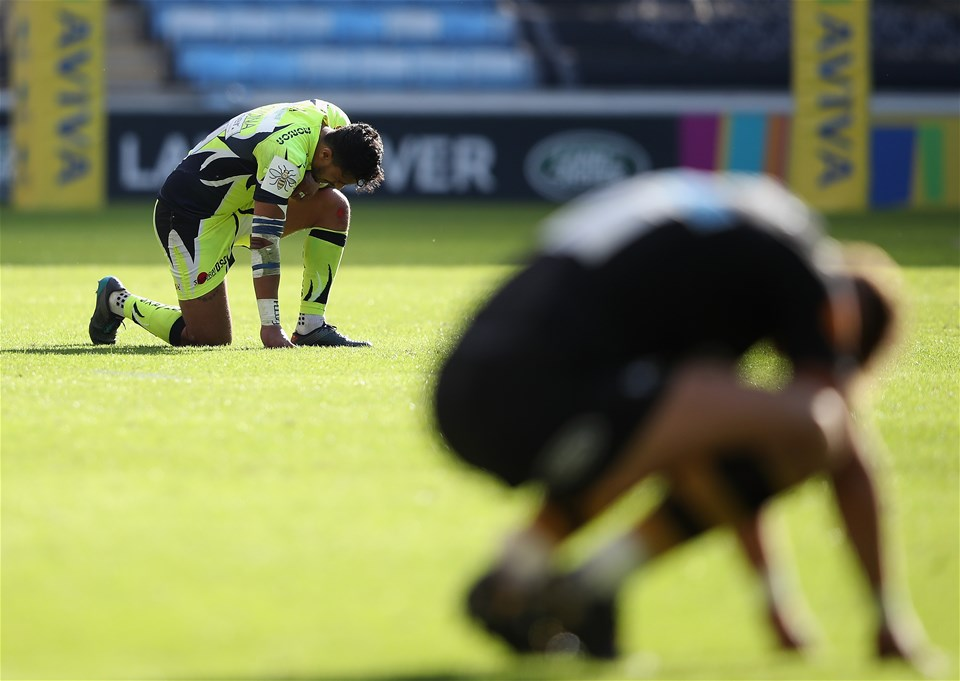 COVENTRY, ENGLAND - SEPTEMBER 02:  The final whistle is blown during the Aviva Premiership match between Wasps and Sale Sharks at The Ricoh Arena on September 2, 2017 in Coventry, England.  (Photo by Clive Mason/Getty Images)