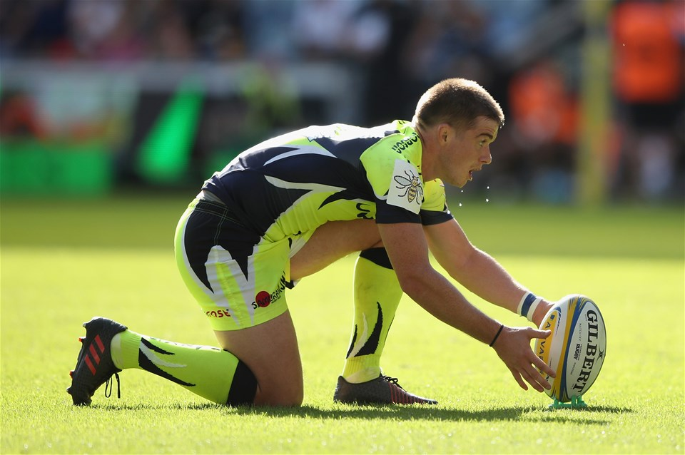 COVENTRY, ENGLAND - SEPTEMBER 02:  AJ MacGinty of Sale Sharks in action during the Aviva Premiership match between Wasps and Sale Sharks at The Ricoh Arena on September 2, 2017 in Coventry, England.  (Photo by Clive Mason/Getty Images)