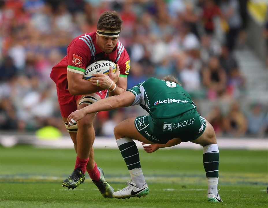 LONDON, ENGLAND - SEPTEMBER 02:  Jack Clifford of Harlequins in action during the Aviva Premiership match between London Irish and Harlequins at Twickenham Stadium on September 2, 2017 in London, England.  (Photo by Mike Hewitt/Getty Images)