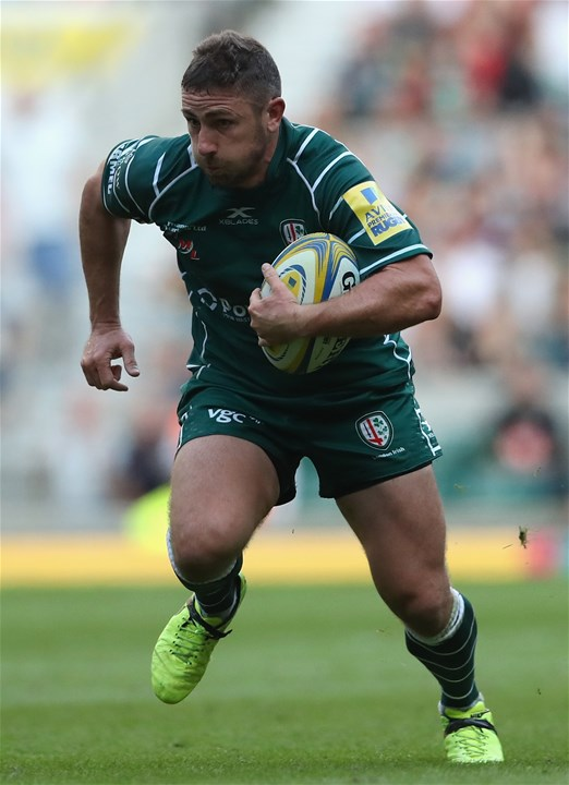 LONDON, ENGLAND - SEPTEMBER 02:  Brendan McKibbin of London Irish breaks with the ball  during the Aviva Premiership match between London Irish and Harlequins at Twickenham Stadium on September 2, 2017 in London, England.  (Photo by David Rogers/Getty Images)