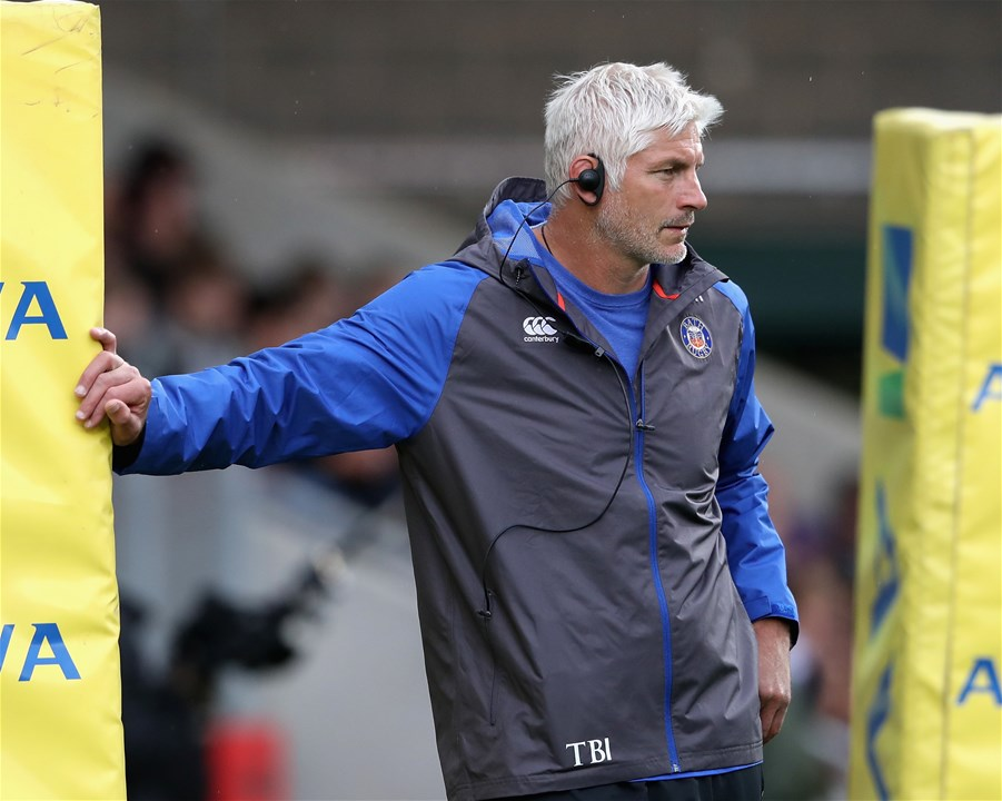 LEICESTER, ENGLAND - SEPTEMBER 03:  Todd Blackadder, the Bath director of rugby looks on during the Aviva Premiership match between Leicester Tigers and Bath Rugby at Welford Road on September 3, 2017 in Leicester, England.  (Photo by David Rogers/Getty Images)