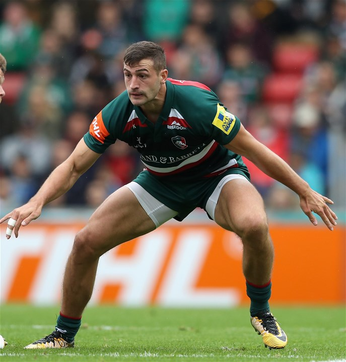 LEICESTER, ENGLAND - SEPTEMBER 03:  Jonny May of Leicester Tigers looks on during the Aviva Premiership match between Leicester Tigers and Bath Rugby at Welford Road on September 3, 2017 in Leicester, England.  (Photo by David Rogers/Getty Images)