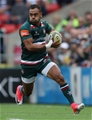 LEICESTER, ENGLAND - SEPTEMBER 03:  Telusa Veainu of Leicester breaks away with the ball during the Aviva Premiership match between Leicester Tigers and Bath Rugby at Welford Road on September 3, 2017 in Leicester, England.  (Photo by David Rogers/Getty Images)