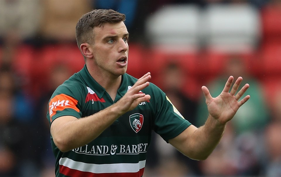 LEICESTER, ENGLAND - SEPTEMBER 03:  George Ford of Leicester waits for the ball during the Aviva Premiership match between Leicester Tigers and Bath Rugby at Welford Road on September 3, 2017 in Leicester, England.  (Photo by David Rogers/Getty Images)