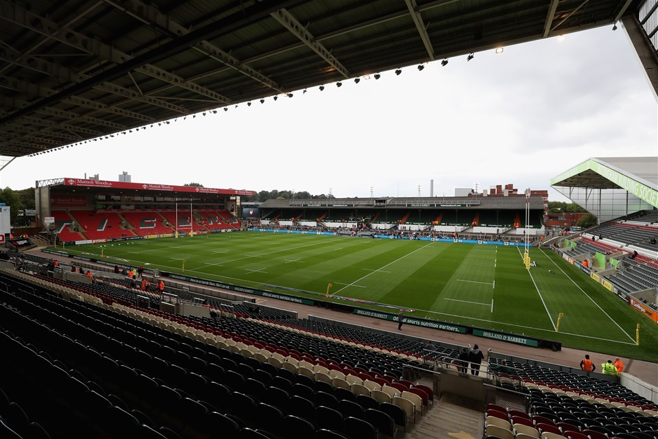 LEICESTER, ENGLAND - SEPTEMBER 03:  A general view of Welford Road during the Aviva Premiership match between Leicester Tigers and Bath Rugby at Welford Road on September 3, 2017 in Leicester, England.  (Photo by David Rogers/Getty Images)