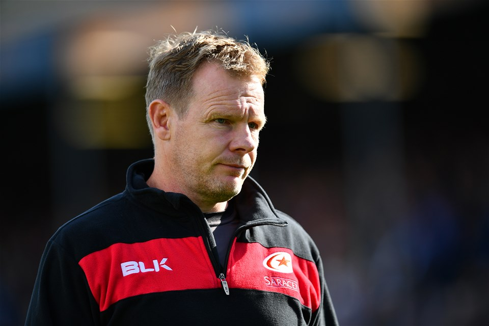 BATH, ENGLAND - SEPTEMBER 09:  Mark McCall, Saracens Director of Rugby looks on following the Aviva Premiership match between Bath Rugby and Saracens at Recreation Ground on September 9, 2017 in Bath, England. (Photo by Dan Mullan/Getty Images)