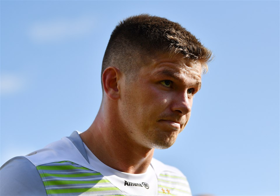 BATH, ENGLAND - SEPTEMBER 09:  Owen Farrell of Saracens looks on following the Aviva Premiership match between Bath Rugby and Saracens at Recreation Ground on September 9, 2017 in Bath, England. (Photo by Dan Mullan/Getty Images)