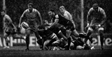EXETER, ENGLAND - SEPTEMBER 09: (EDITORS NOTE: Image has been converted to Black and White) Nic White of Exeter Chiefs passes the ball during the Aviva Premiership match between Exeter Chiefs and London Irish at Sandy Park on September 9, 2017 in Exeter, England. (Photo by Harry Trump/Getty Images)