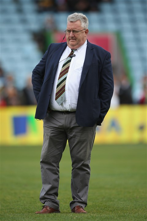 LONDON, ENGLAND - SEPTEMBER 09: Harlequins Director of Rugby, John Kingston looks on prior to the Aviva Premiership match between Harlequins and Gloucester Rugby at Twickenham Stoop on September 9, 2017 in London, England.  (Photo by Steve Bardens/Getty Images for Harlequins)