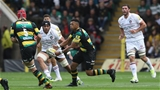 NORTHAMPTON, ENGLAND - SEPTEMBER 09:  Luther Burrell of Northampton passes the ball during the Aviva Premiership match between Northampton Saints and Leicester Tigers at Franklin's Gardens on September 9, 2017 in Northampton, England.  (Photo by David Rogers/Getty Images)