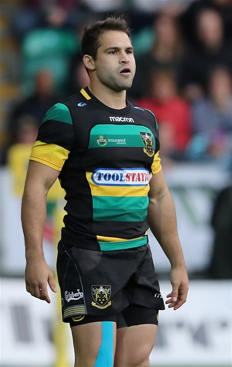 NORTHAMPTON, ENGLAND - SEPTEMBER 09:  Cobus Reinach of Northampton Saints looks on during the Aviva Premiership match between Northampton Saints and Leicester Tigers at Franklin's Gardens on September 9, 2017 in Northampton, England.  (Photo by David Rogers/Getty Images)