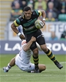 NORTHAMPTON, ENGLAND - SEPTEMBER 09: Luther Burrell of Northampton Saints during the Aviva Premiership match between Northampton Saints and Leicester Tigers at Franklin's Gardens on September 9, 2017 in Northampton, England. (Photo by Henry Browne/Getty Images)