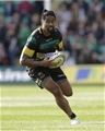 NORTHAMPTON, ENGLAND - SEPTEMBER 09: Ahsee Tuala of Northampton Saints during the Aviva Premiership match between Northampton Saints and Leicester Tigers at Franklin's Gardens on September 9, 2017 in Northampton, England. (Photo by Henry Browne/Getty Images)