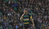 NORTHAMPTON, ENGLAND - SEPTEMBER 09: Rob Horne of Northampton Saintsduring the Aviva Premiership match between Northampton Saints and Leicester Tigers at Franklin's Gardens on September 9, 2017 in Northampton, England. (Photo by Henry Browne/Getty Images)