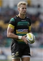 NORTHAMPTON, ENGLAND - SEPTEMBER 09: Harry Mallinder of Northampton Saints during the Aviva Premiership match between Northampton Saints and Leicester Tigers at Franklin's Gardens on September 9, 2017 in Northampton, England. (Photo by Henry Browne/Getty Images)