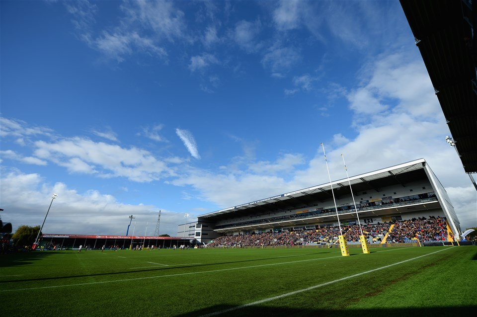 WORCESTER, ENGLAND - SEPTEMBER 10:  A view of Sixways Stadium, Home of Worcester Warriors during the Aviva Premiership match between Worcester Warriors and Wasps at Sixways Stadium on September 10, 2017 in Worcester, England.  (Photo by Tony Marshall/Getty Images)