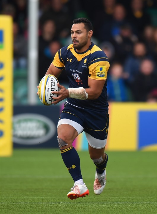 WORCESTER, ENGLAND - SEPTEMBER 10:  Ben Teo of Worcester Warriors during the Aviva Premiership match between Worcester Warriors and Wasps at Sixways Stadium on September 10, 2017 in Worcester, England.  (Photo by Tony Marshall/Getty Images)