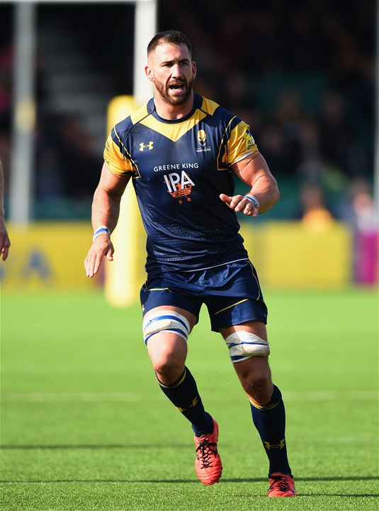 WORCESTER, ENGLAND - SEPTEMBER 10:  Matt Cox of Worcester Warriors during the Aviva Premiership match between Worcester Warriors and Wasps at Sixways Stadium on September 10, 2017 in Worcester, England.  (Photo by Tony Marshall/Getty Images)