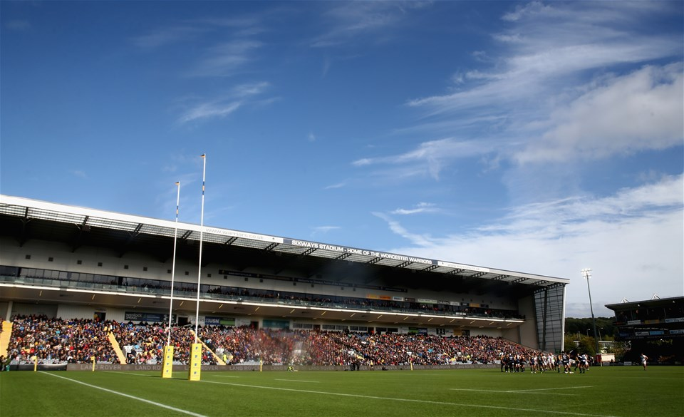 WORCESTER, ENGLAND - SEPTEMBER 10: A general view of Sixways Stadium during the Aviva Premiership match between Worcester Warriors and Wasps at Sixways Stadium on September 10, 2017 in Worcester, England.  (Photo by David Rogers/Getty Images)