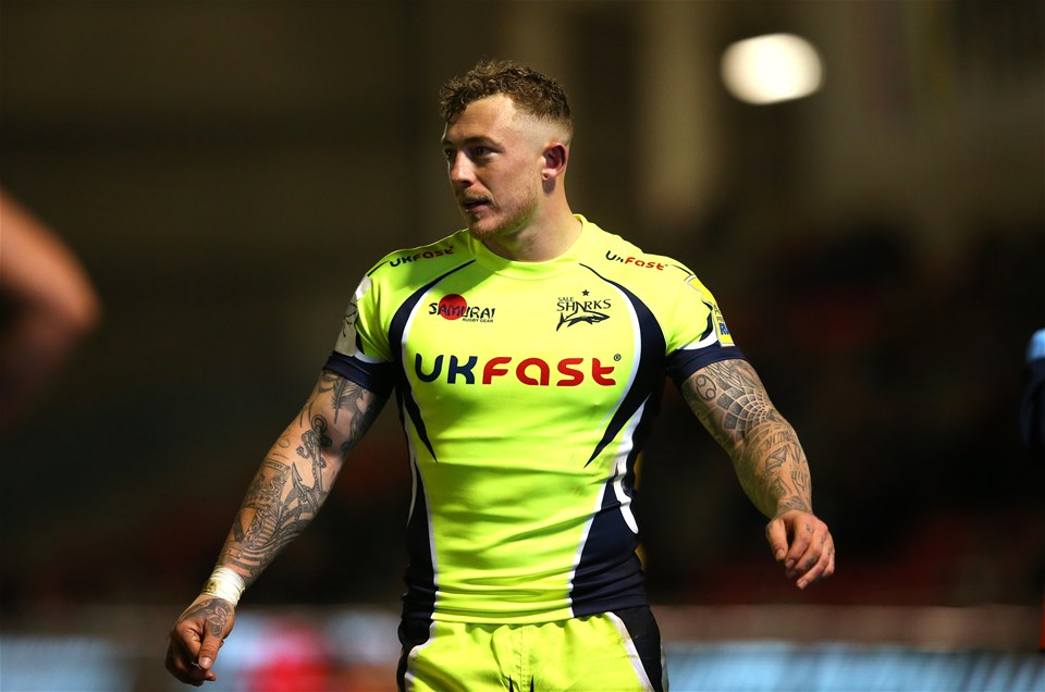 SALFORD, ENGLAND - SEPTEMBER 15:  Josh Charnley of Sale Sharks during the Aviva Premiership match between Sale Sharks and London Irish at AJ Bell Stadium on September 15, 2017 in Salford, England.  (Photo by Alex Livesey/Getty Images)