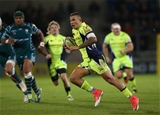 SALFORD, ENGLAND - SEPTEMBER 15:  Mark Jennings of Sale Sharks runs at the London Irish defence during the Aviva Premiership match between Sale Sharks and London Irish at AJ Bell Stadium on September 15, 2017 in Salford, England.  (Photo by Alex Livesey/Getty Images)