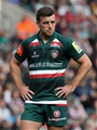 LEICESTER, ENGLAND - SEPTEMBER 16: George Ford of Leicester looks on during the Aviva Premiership match between Leicester Tigers and Gloucester Rugby at Welford Road on September 16, 2017 in Leicester, England.  (Photo by David Rogers/Getty Images)