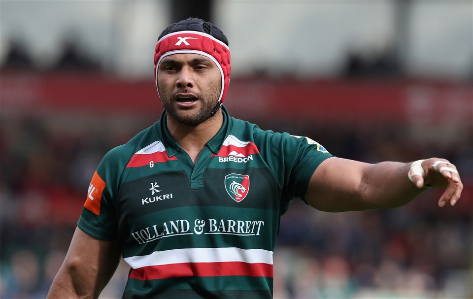 LEICESTER, ENGLAND - SEPTEMBER 16:  Sione Kalamafoni of Leicester looks on during the Aviva Premiership match between Leicester Tigers and Gloucester Rugby at Welford Road on September 16, 2017 in Leicester, England.  (Photo by David Rogers/Getty Images)
