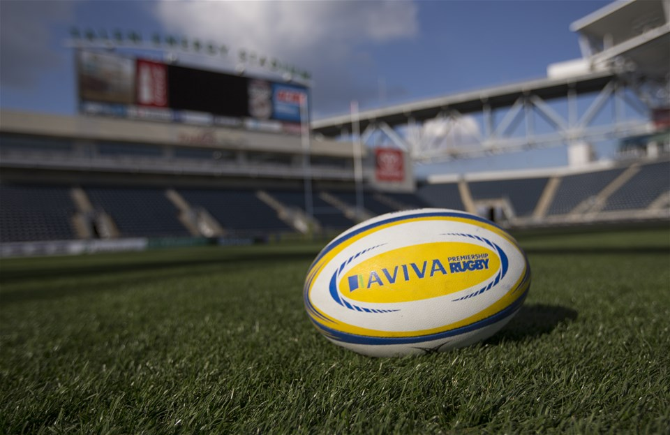 PHILADELPHIA, PA - SEPTEMBER 15: An Aviva rugby ball rests on the field at Talen Energy Stadium during previews ahead of the Aviva Premiership Round 3 Match between Newcastle Falcons and Saracens September 15, 2017 in Philadelphia, Pennsylvania. (Photo by Mitchell Leff/Getty Images)