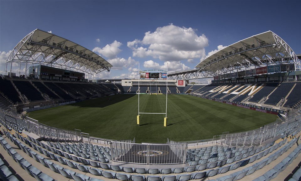 PHILADELPHIA, PA - SEPTEMBER 15: A general view of Talen Energy Stadium during previews ahead of the Aviva Premiership Round 3 Match between Newcastle Falcons and Saracens September 15, 2017 in Philadelphia, Pennsylvania. (Photo by Mitchell Leff/Getty Images)