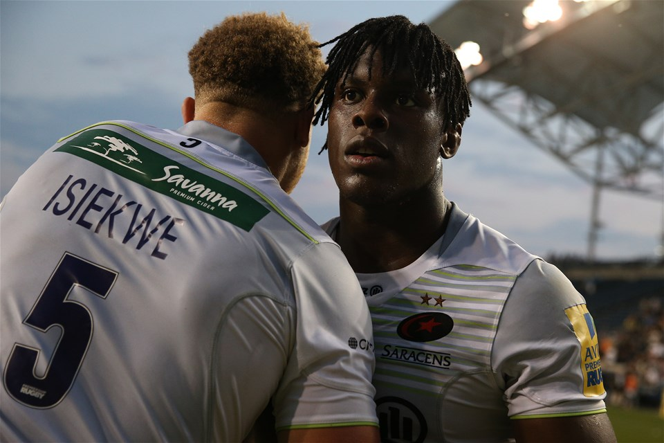 CHESTER, PA - SEPTEMBER 16: Mario Itoje #4 of the Saracens looks on as 'Man of the Match' after defeating the Newcastle Falcons during a Aviva Premiership match between the Newcastle Falcons and the Saracens at Talen Energy Stadium on September 16, 2017 in Chester, Pennsylvania. (Photo by Patrick Smith/Getty Images)