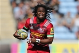 COVENTRY, ENGLAND - SEPTEMBER 17:  Marland Yarde of Harlequins runs with the ball during the Aviva Premiership match between Wasps and Harlequins at The Ricoh Arena on September 17, 2017 in Coventry, England.  (Photo by David Rogers/Getty Images)