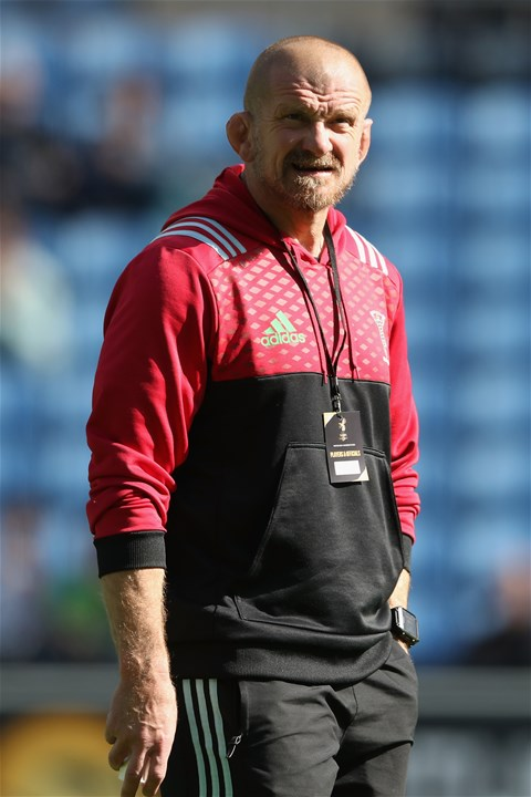 COVENTRY, ENGLAND - SEPTEMBER 17:  Graham Rowntree, the Harlequins forwards coach looks on during the Aviva Premiership match between Wasps and Harlequins at The Ricoh Arena on September 17, 2017 in Coventry, England.  (Photo by David Rogers/Getty Images)