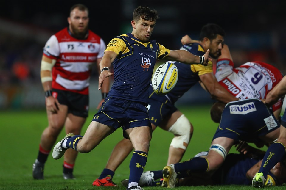 GLOUCESTER, ENGLAND - SEPTEMBER 22:  Jono Kitto of Worcester Warriors during the Aviva Premiership match between Gloucester Rugby and Worcester Warriors at Kingsholm Stadium on September 22, 2017 in Gloucester, England.  (Photo by Michael Steele/Getty Images)