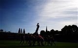 BATH, ENGLAND - SEPTEMBER 23: General view of a line out during the Aviva Premiership match between Bath Rugby and Newcastle Falcons at the Recreation Ground on September 23, 2017 in Bath, England. (Photo by Harry Trump/Getty Images)