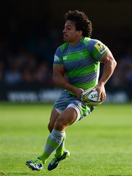 BATH, ENGLAND - SEPTEMBER 23: Juan Pablo Socino of Newcastle Falcons during the Aviva Premiership match between Bath Rugby and Newcastle Falcons at the Recreation Ground on September 23, 2017 in Bath, England. (Photo by Harry Trump/Getty Images)