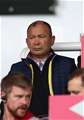 LONDON, ENGLAND - SEPTEMBER 23:  England Head Coach Eddie Jones watches from the stands during the Aviva Premiership match between Harlequins and Leicester Tigers at Twickenham Stoop on September 23, 2017 in London, England.  (Photo by Christopher Lee/Getty Images)